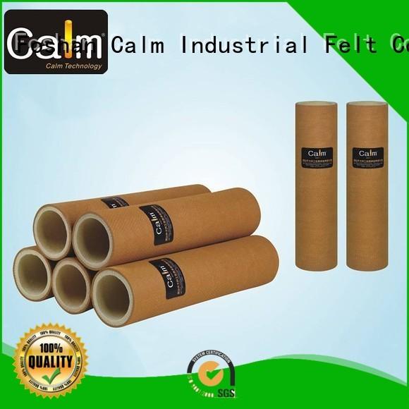 roller heat resistant middle temp black felt roll Calm Industrial Felt Brand