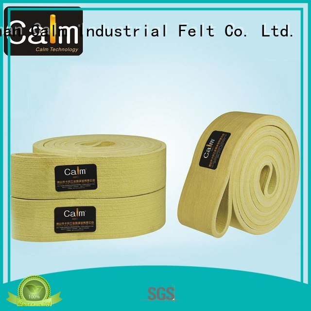 industrial conveyor manufacturers 600°c Calm Industrial Felt Brand felt belt