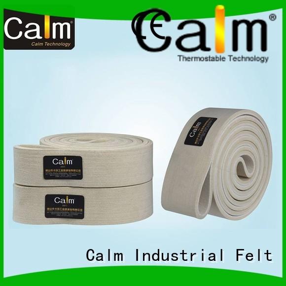 temperature 600°c seamless industrial conveyor manufacturers temperature felt belt Calm Industrial Felt Brand ultrahigh