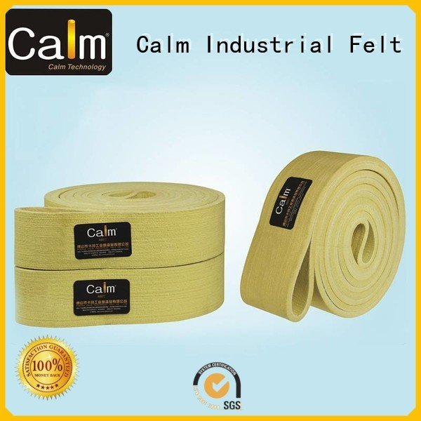 Calm Industrial Felt Brand 600°c tempseamless felt belt low temperature