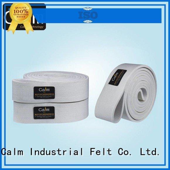 Calm Industrial Felt Brand 600°c industrial conveyor manufacturers middle seamless
