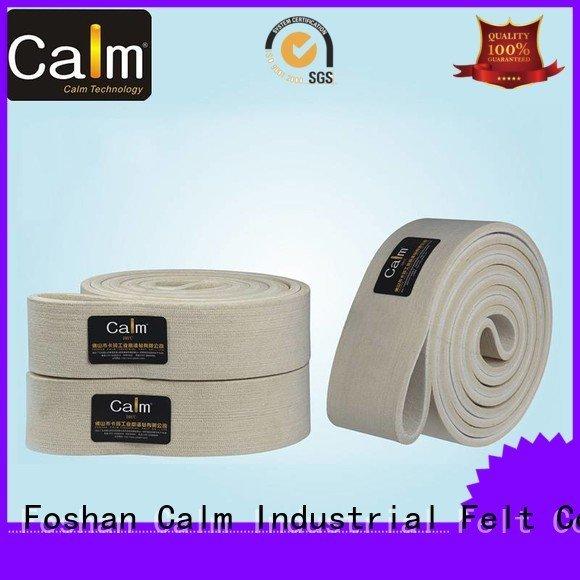industrial conveyor manufacturers 480°c 600°c OEM felt belt Calm Industrial Felt