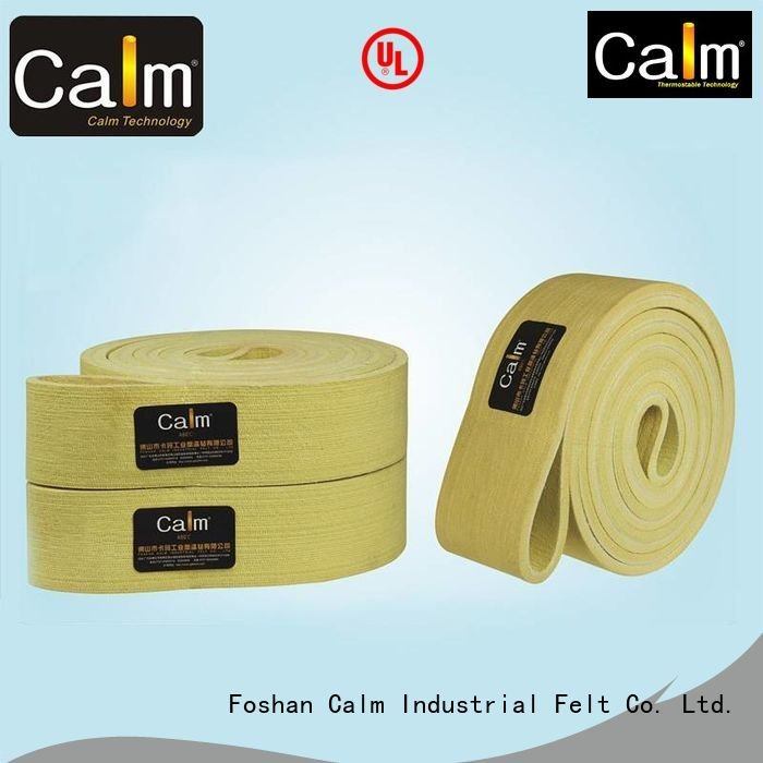 industrial conveyor manufacturers ultrahigh felt belt 280°c Calm Industrial Felt
