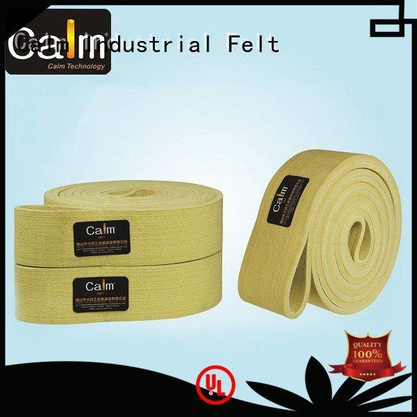 seamless felt belt belt temperature Calm Industrial Felt