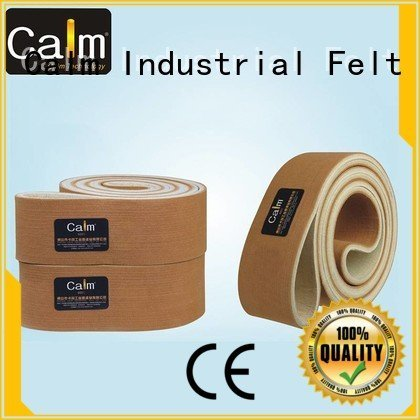 Quality industrial conveyor manufacturers Calm Industrial Felt Brand ring felt belt 600°c