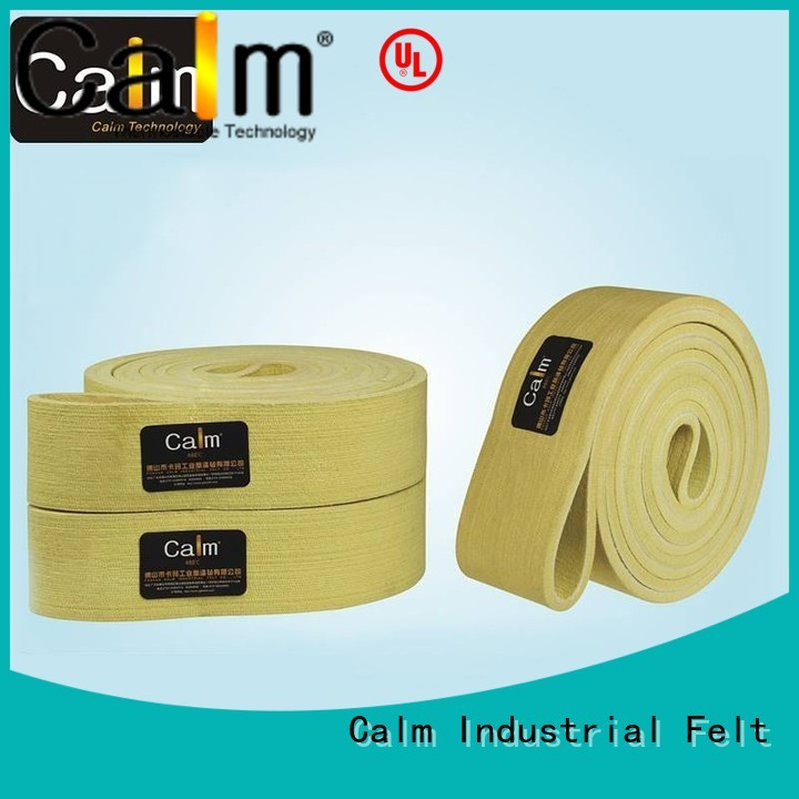 Calm Industrial Felt Brand low 600°c felt belt manufacture