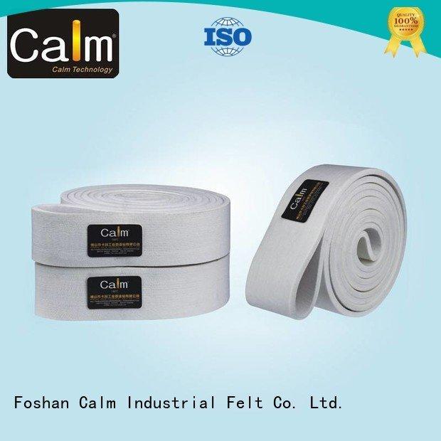 Hot industrial conveyor manufacturers 600°c felt belt low Calm Industrial Felt