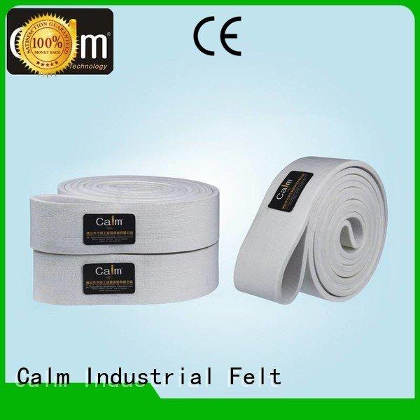 Calm Industrial Felt Brand tempseamless ultrahigh 280°c industrial conveyor manufacturers