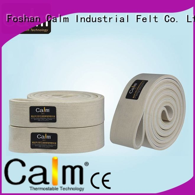 Calm Industrial Felt middle conveyor felt belt 280°c 480°c