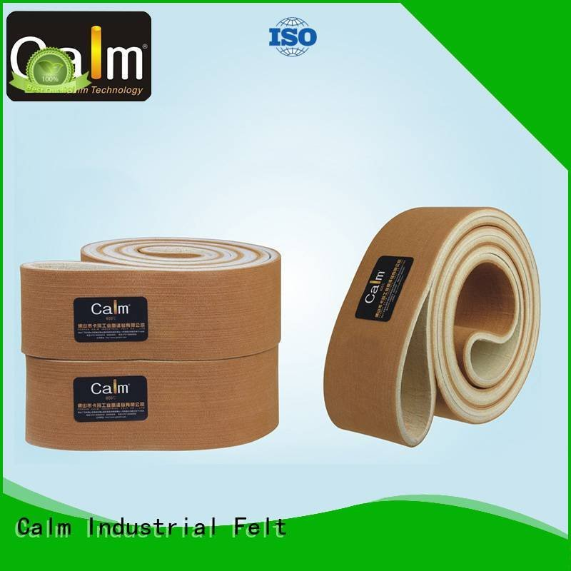 600°c 180°c belt Calm Industrial Felt industrial conveyor manufacturers