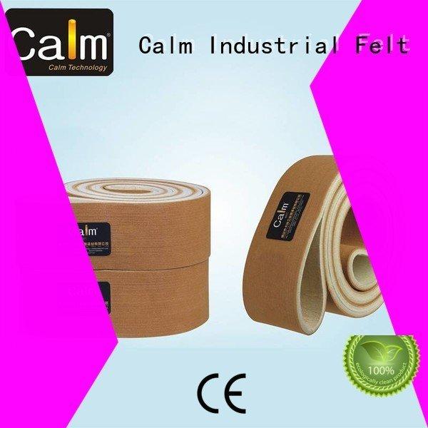 Hot industrial conveyor manufacturers ultrahigh felt belt ring Calm Industrial Felt