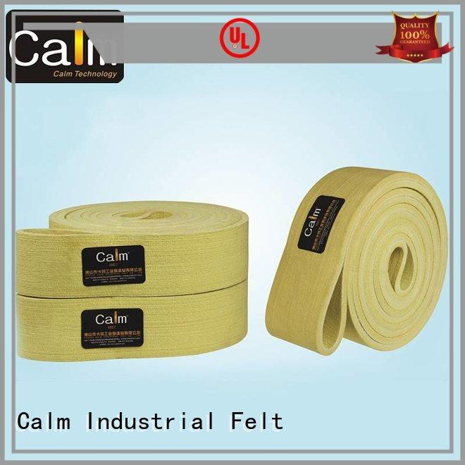 seamless belt conveyor 480°c Calm Industrial Felt industrial conveyor manufacturers