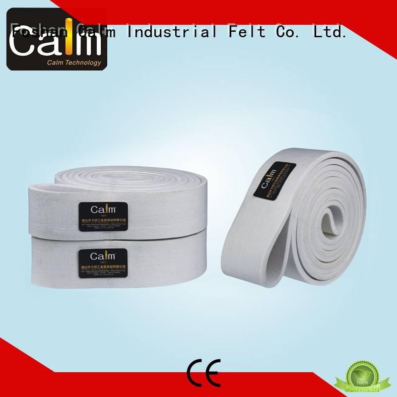 Custom 180°c felt belt ring industrial conveyor manufacturers