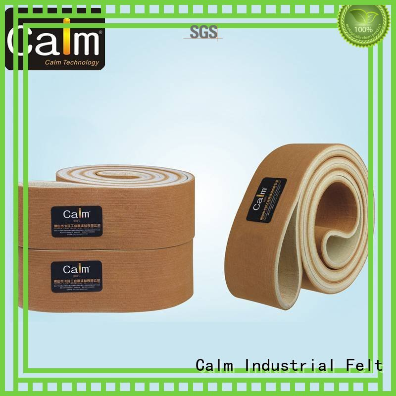 ultrahigh low seamless felt belt Calm Industrial Felt Brand