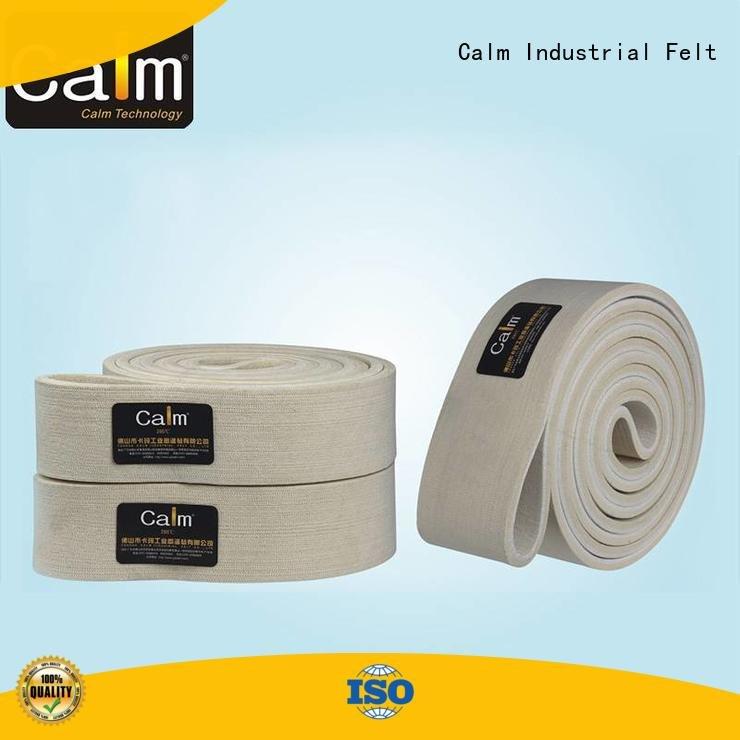 Calm Industrial Felt Brand 480°c belt industrial conveyor manufacturers ring conveyor