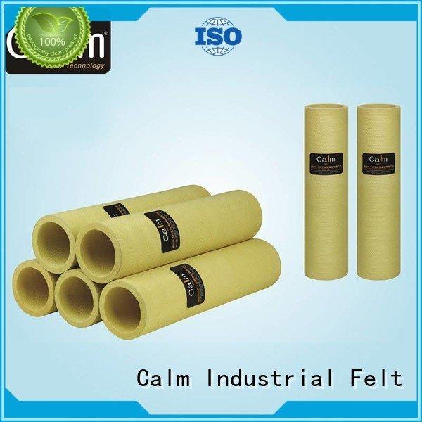 Hot black felt roll 280°c high 180°c Calm Industrial Felt Brand