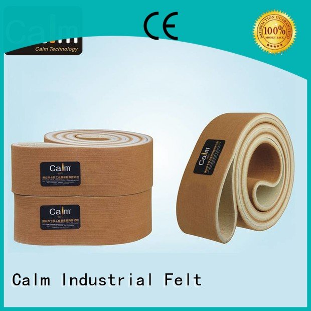 Wholesale conveyor 280°c felt belt Calm Industrial Felt Brand