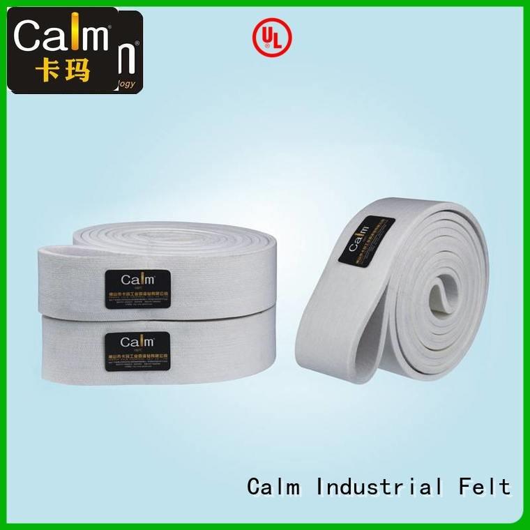 Calm Industrial Felt Brand 600°c industrial conveyor manufacturers low felt