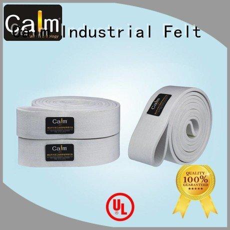 ultrahigh 600°c industrial conveyor manufacturers 180°c ultrahigh felt belt Calm Industrial Felt Warranty