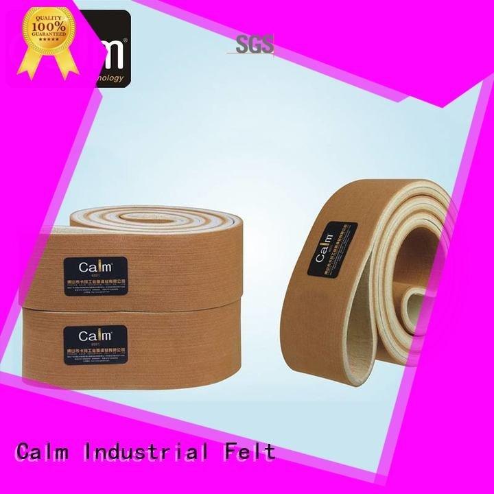 Calm Industrial Felt 600°c seamless 180°c industrial conveyor manufacturers low