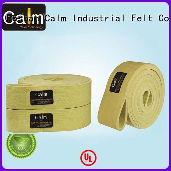 Calm Industrial Felt Brand temperature 280°c industrial conveyor manufacturers ultrahigh 480°c