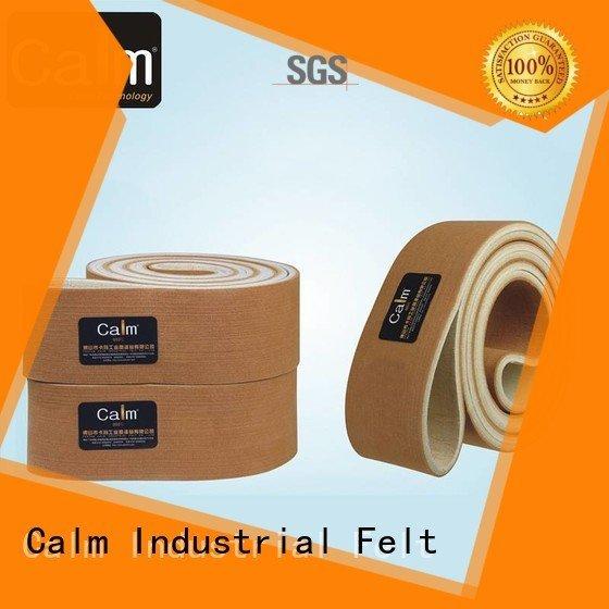 industrial conveyor manufacturers 180°c ultrahigh felt belt Calm Industrial Felt Brand