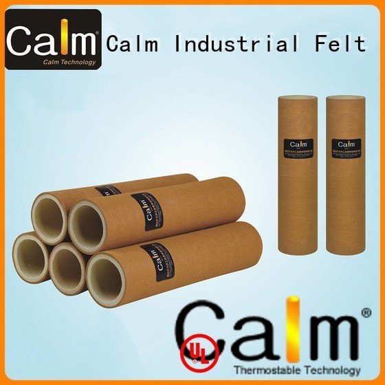 Custom 180°c felt roll pbo black felt roll