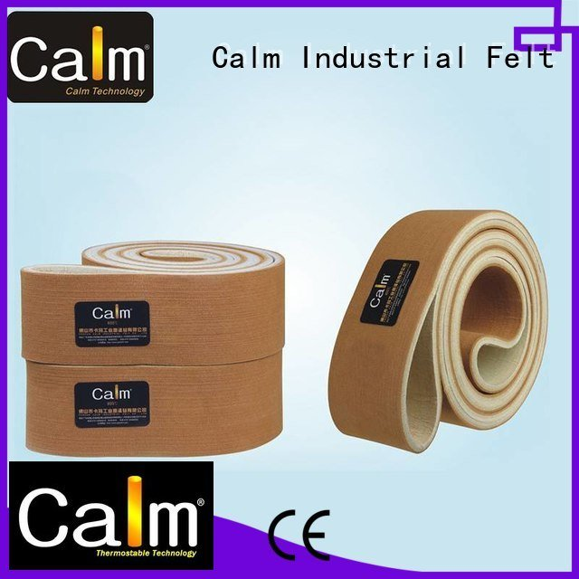 industrial conveyor manufacturers 180°c tempseamless belt ultrahigh Calm Industrial Felt