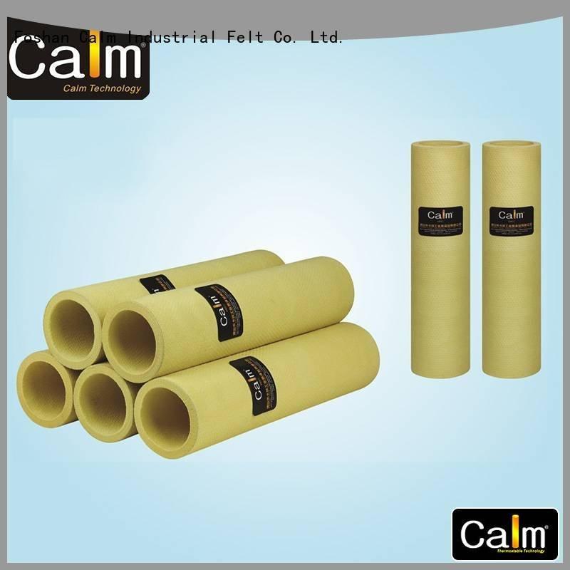 black felt roll 180°c pbo OEM felt roll Calm Industrial Felt
