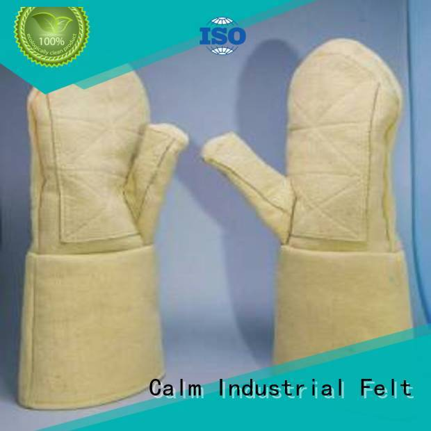 Calm Industrial Felt Kevlar gloves for metal casting 500℃ Finger shape 37cm