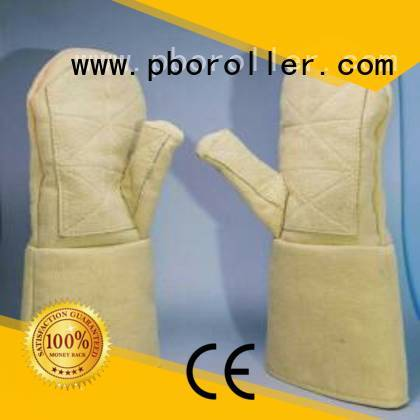 3.5Grade Finger shape Calm Industrial Felt Kevlar gloves for metal casting