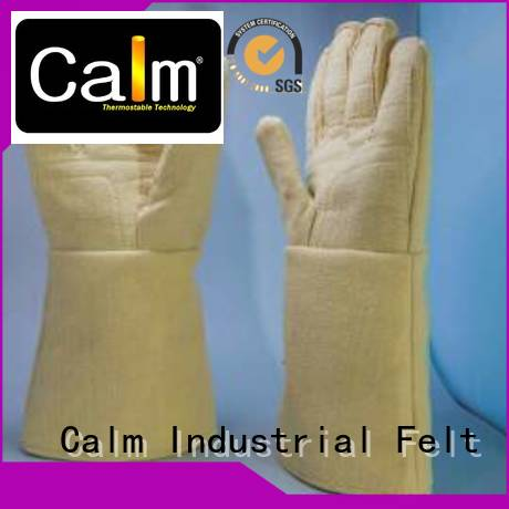 Calm Industrial Felt Kevlar gloves for metal casting 37cm 3.5Grade 500℃ Finger shape