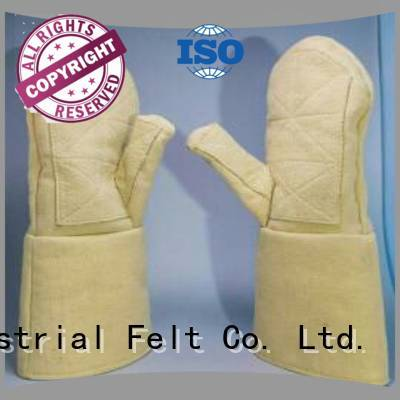 Quality Calm Industrial Felt Brand Kevlar gloves for metal casting 37cm Finger shape 3.5Grade