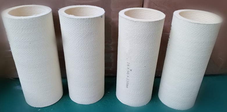 Production process of the polyester felt tube with heat resistance