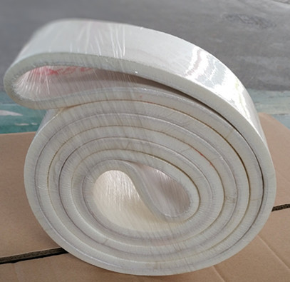 Cutting the nomex conveyor felt belt