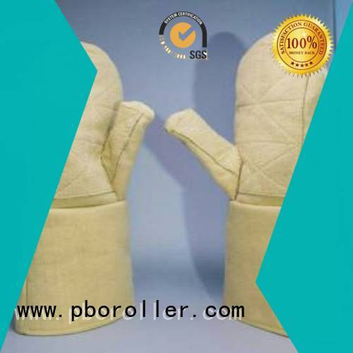 Kevlar gloves for metal casting 3.5Grade Finger shape 500℃ 37cm Calm Industrial Felt