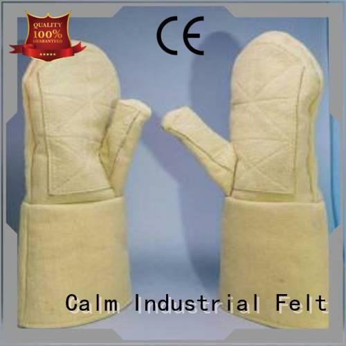 Calm Industrial Felt 3.5Grade Kevlar gloves 500℃ Finger shape
