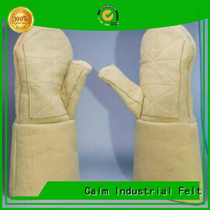 Finger shape Kevlar gloves Calm Industrial Felt Kevlar gloves for metal casting