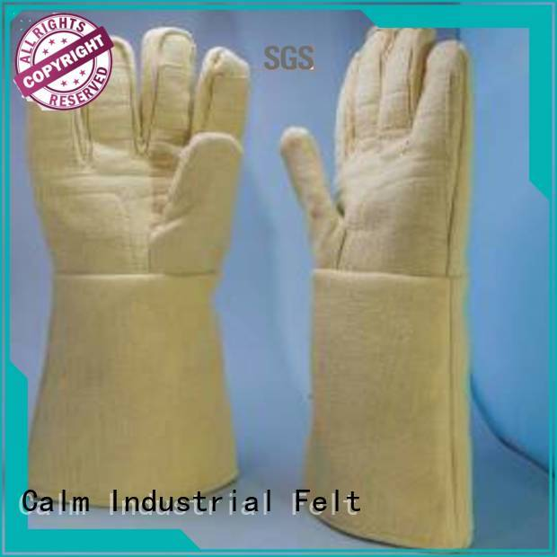 Kevlar gloves for metal casting Finger shape 3.5Grade Kevlar gloves 500℃ company