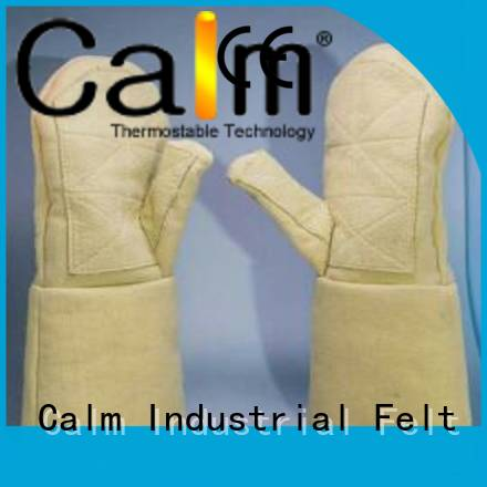 Calm Industrial Felt Brand 37cm 500℃ Kevlar gloves for metal casting 3.5Grade Finger shape