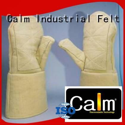Quality Kevlar gloves for metal casting Calm Industrial Felt Brand 37cm Kevlar gloves
