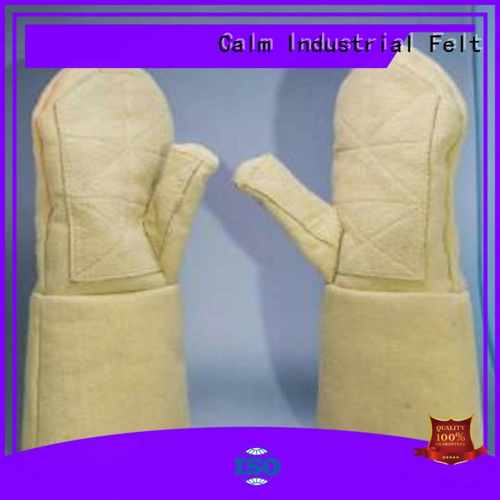 Calm Industrial Felt Brand 3.5Grade 500℃ Kevlar gloves Finger shape 37cm