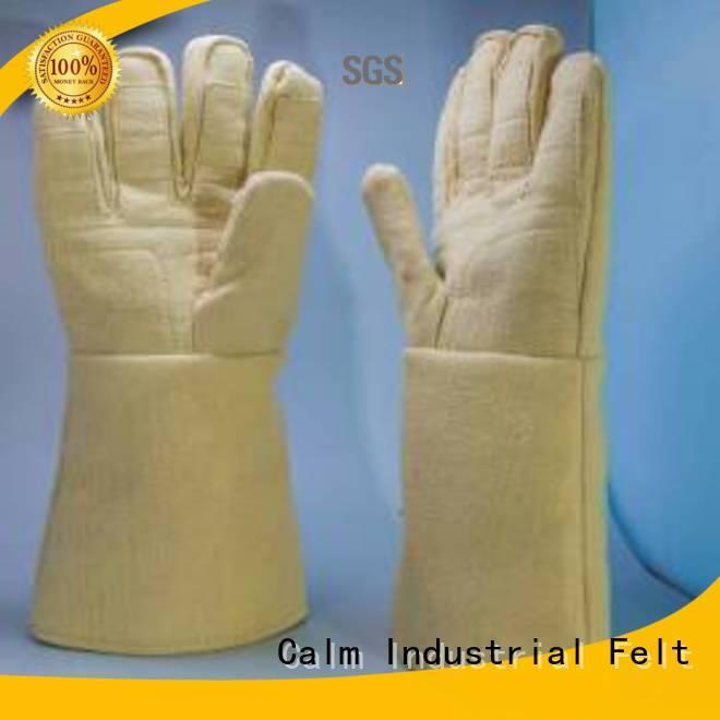 500℃ Finger shape 37cm 3.5Grade Calm Industrial Felt Kevlar gloves