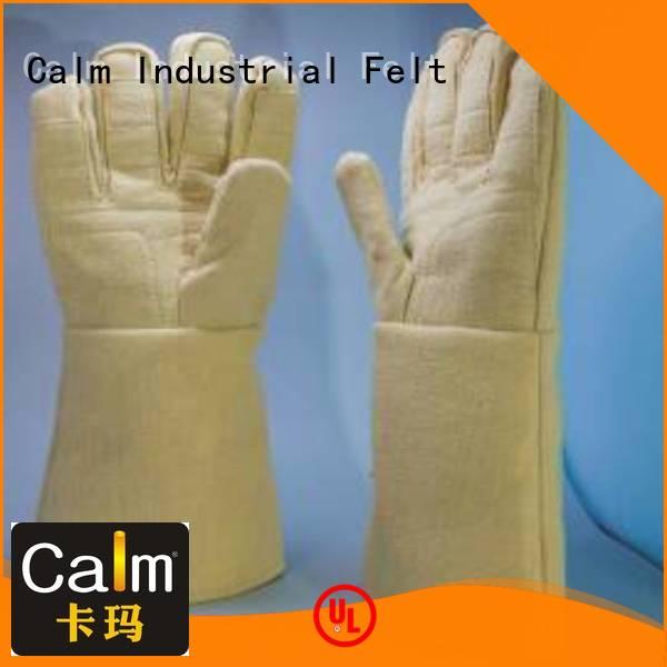 Hot Kevlar gloves for metal casting 37cm Finger shape 3.5Grade Calm Industrial Felt Brand