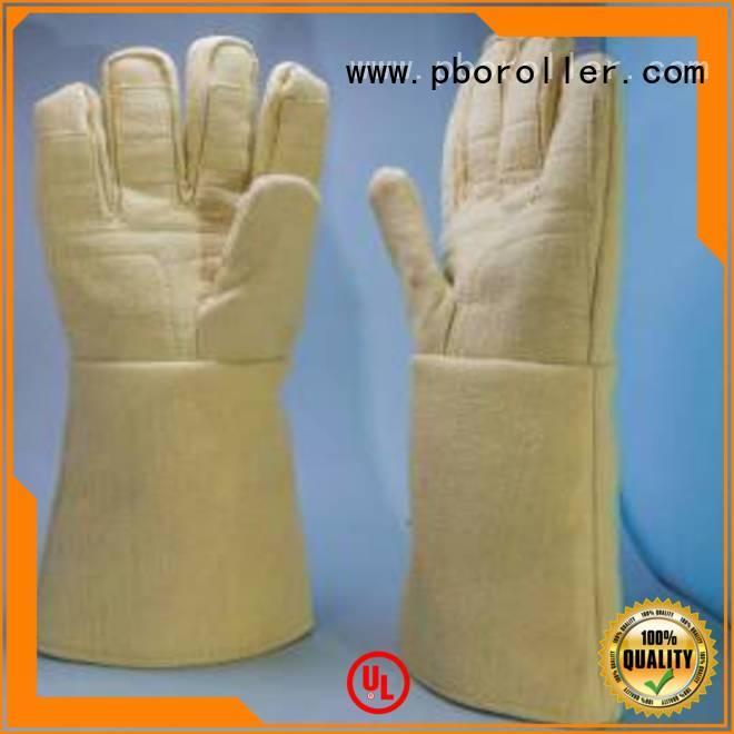 OEM Kevlar gloves 500℃ Finger shape Kevlar gloves for metal casting