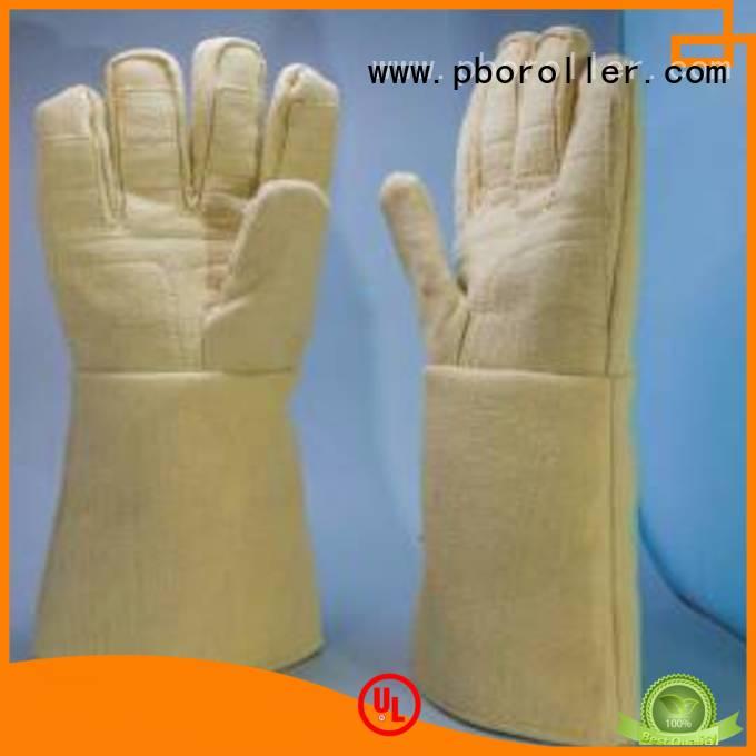 Kevlar gloves for metal casting Finger shape 500℃ Calm Industrial Felt Brand