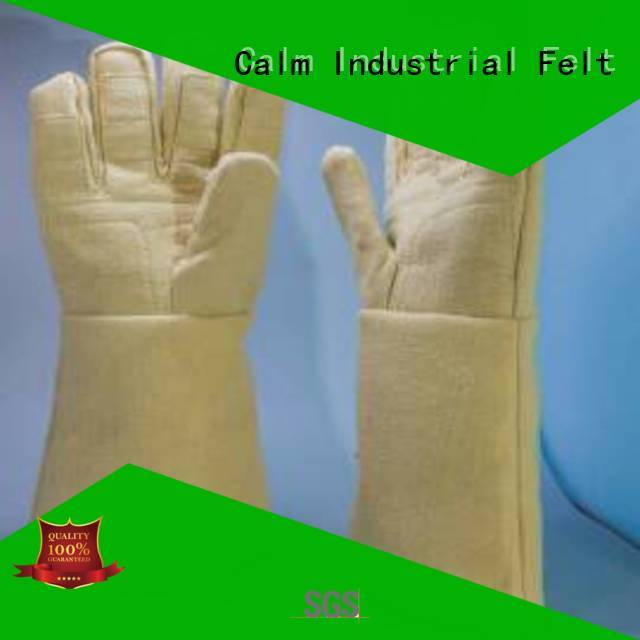 500℃ 37cm Kevlar gloves Finger shape 3.5Grade Calm Industrial Felt company
