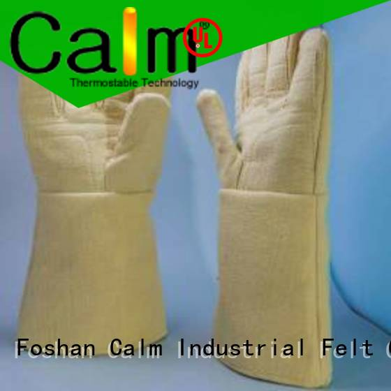 37cm Finger shape Kevlar gloves 3.5Grade Calm Industrial Felt