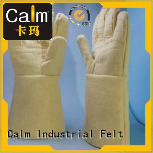 Kevlar gloves for metal casting Finger shape 3.5Grade Kevlar gloves Calm Industrial Felt Brand
