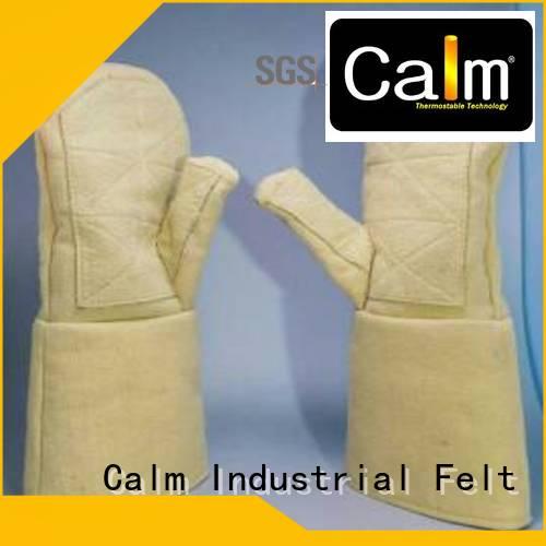 Kevlar gloves for metal casting 500℃ 3.5Grade Finger shape 37cm Calm Industrial Felt